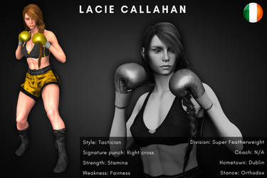 Fighter card: Lacie Callahan by alesiaboxing