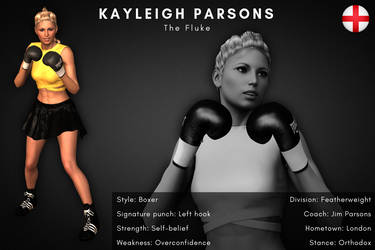 Fighter card: Kayleigh Parsons by alesiaboxing