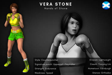 Fighter Card: Vera Stone by alesiaboxing