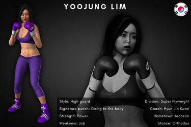 Fighter card: Yoojung Lim by alesiaboxing