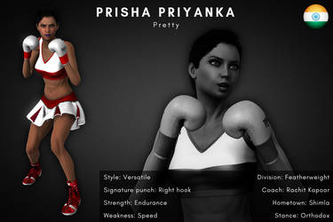 Fighter card: Prisha Priyanka by alesiaboxing