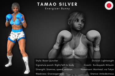 Fighter card: Tamao Silver by alesiaboxing
