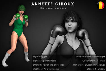 Fighter card: Annette Giroux by alesiaboxing