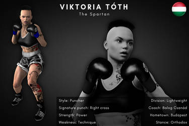 Fighter card: Viktoria Toth by alesiaboxing