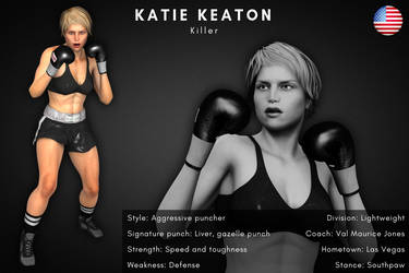 Fighter card: Katie Keaton by alesiaboxing