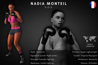 Fighter card: Nadia Monteil by alesiaboxing