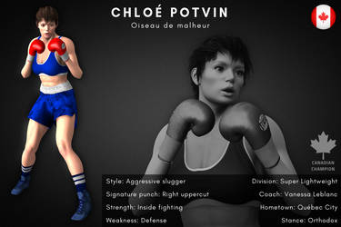 Fighter card: Chloe Potvin by alesiaboxing