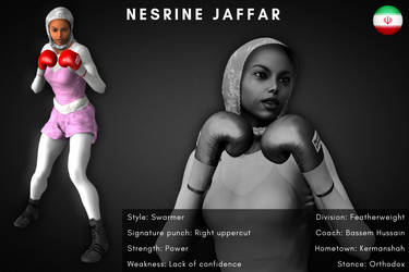 Fighter card: Nesrine Jaffar by alesiaboxing