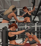 Akane gets pounded to the body in training
