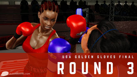 Hungry predator: Mercedes vs. Caitlin, Round 3 by alesiaboxing