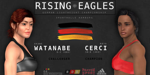 German title: Akane Watanabe to fight Maya Cerci by alesiaboxing