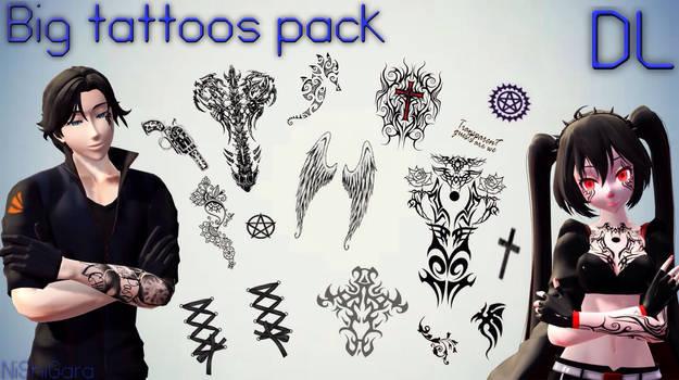 MMD Big tattoo's texture pack DL