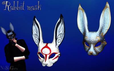 MMD Rabbit mask DL