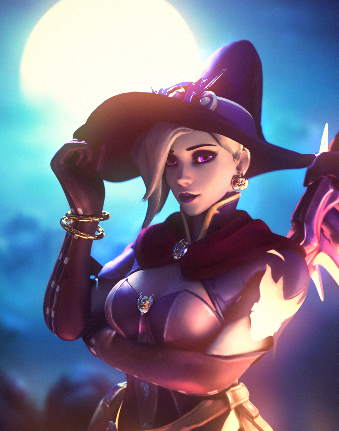Halloween Mercy by qewe7829 on DeviantArt