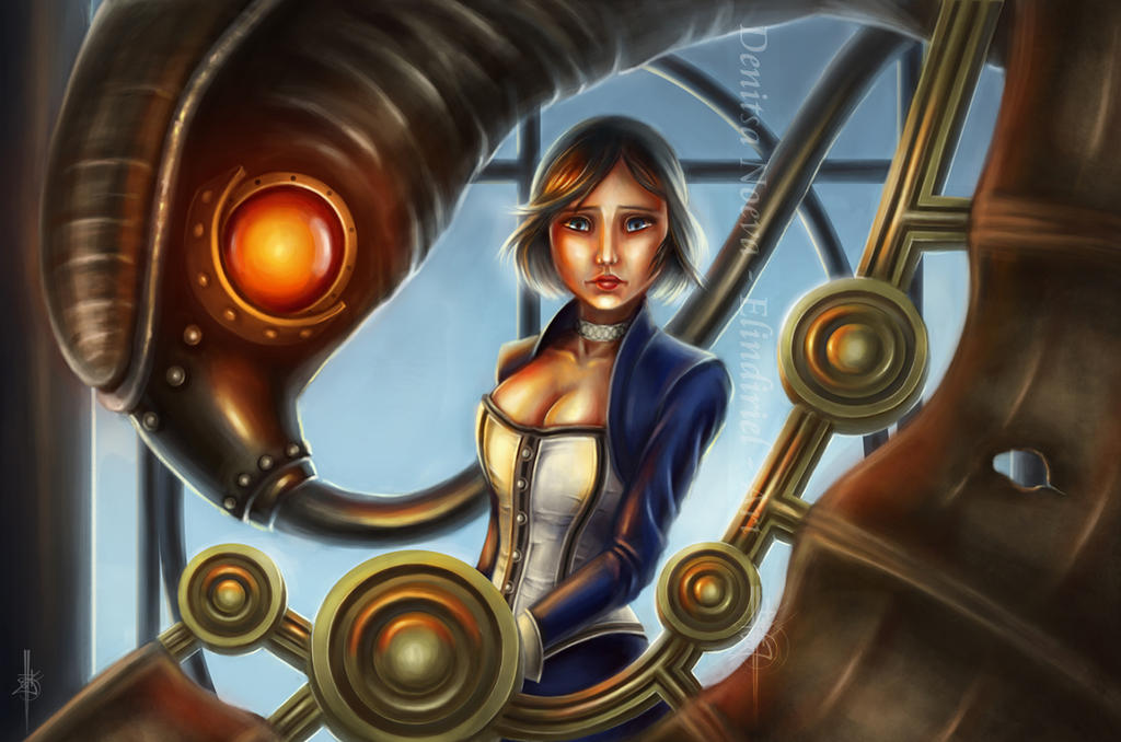 Bioshock Infinite - Elizabeth and Songbird by Elindiriel