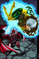 Magneto and Rogue CG by Jats