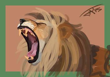 Lion Speedpaint by Jats