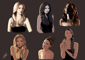 Hair and Light Studies #1 by Jats