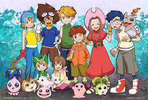 Digimon 13th Anniversary by tarahm