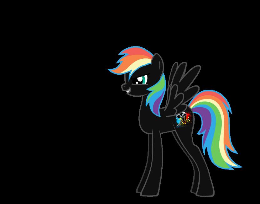 EVIL rainbow dash by XxwhitewolffirexX
