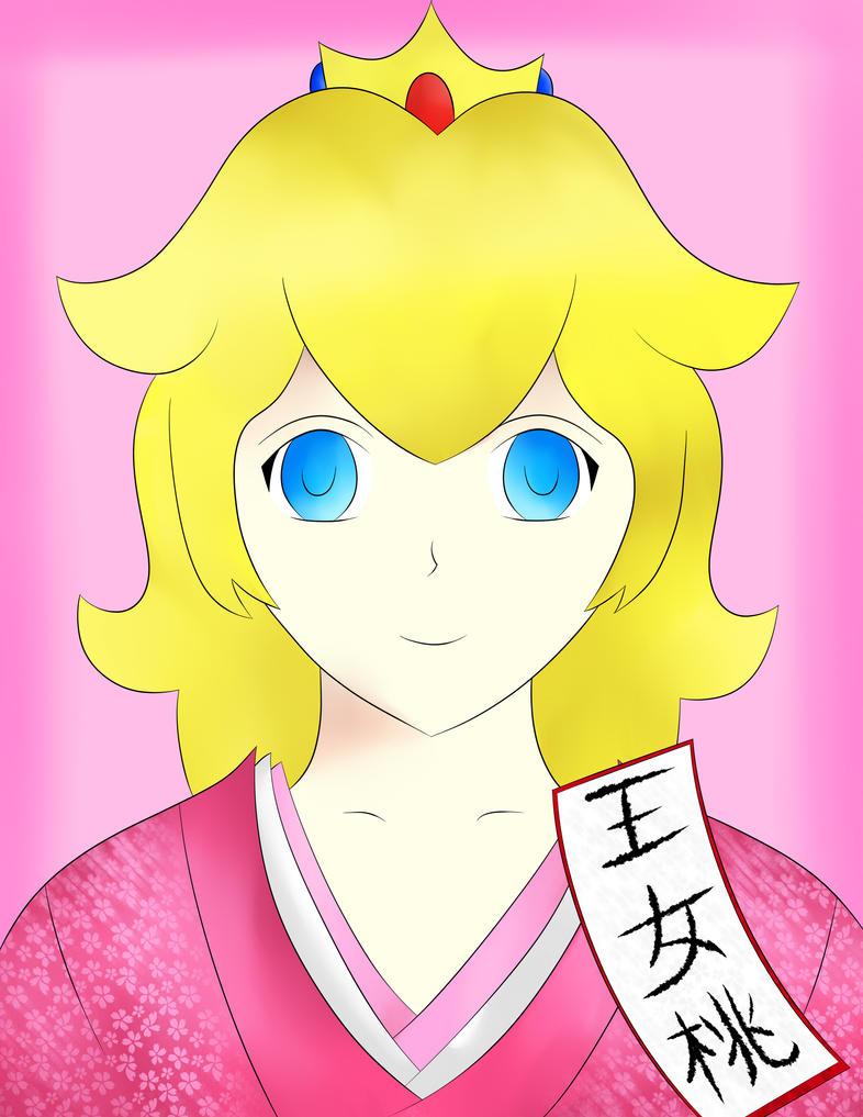 Princess Peach in a Kimono by sentaikick on DeviantArt