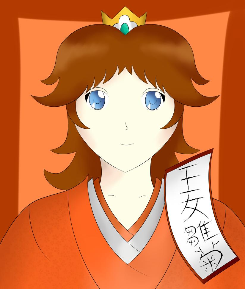 Princess Daisy in a Kimono by sentaikick