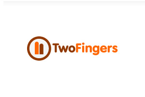 two fingers logo by blue2x