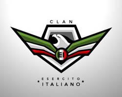 esercito italiano clan logo by blue2x