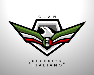esercito italiano clan logo by blue2x