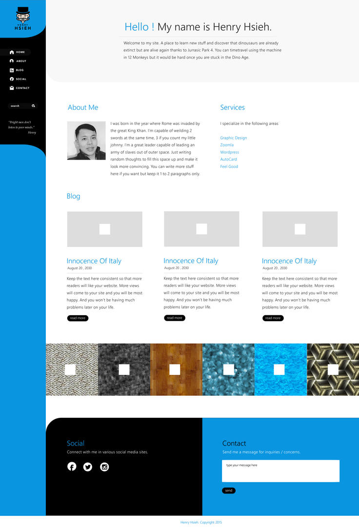 Henry Hsieh Website by blue2x