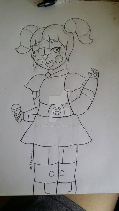 Circus Baby (WIP Sketch) by zthegamer