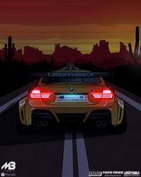 Sunset In The Desert / BMW by MarioBli
