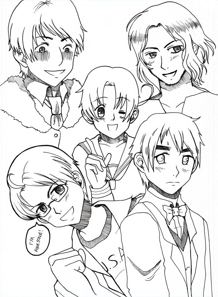 anime hetalia coloring pages - photo#3