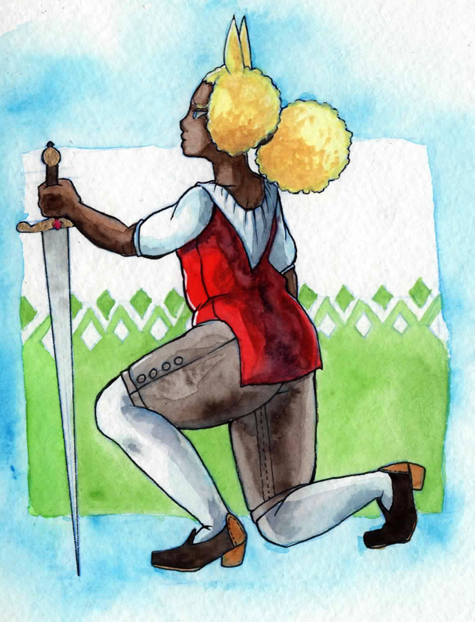 Mredudd watercolour by masaothedog