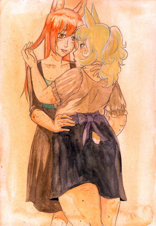 +Dewi and Caren hug+ by masaothedog