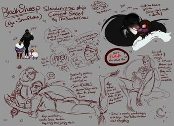 (Ship Sketches) BlackSheep/Snyx by TheScarletCrow