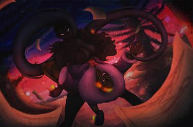 (Slenderverse - BlackSheep) Dusk Dip by TheScarletCrow