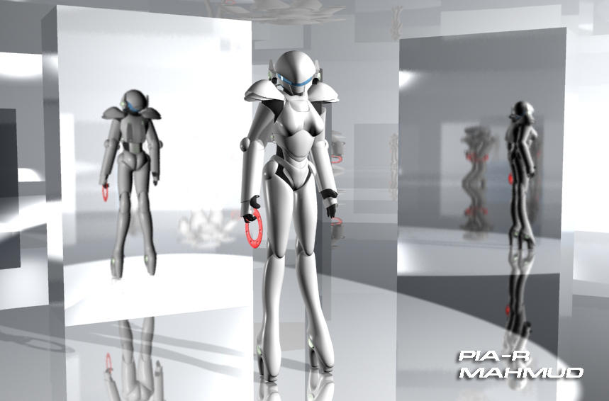 PIA-R  female robot by mahmud3d