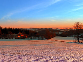 Colorful winter wonderland sundown III by patrickjobst