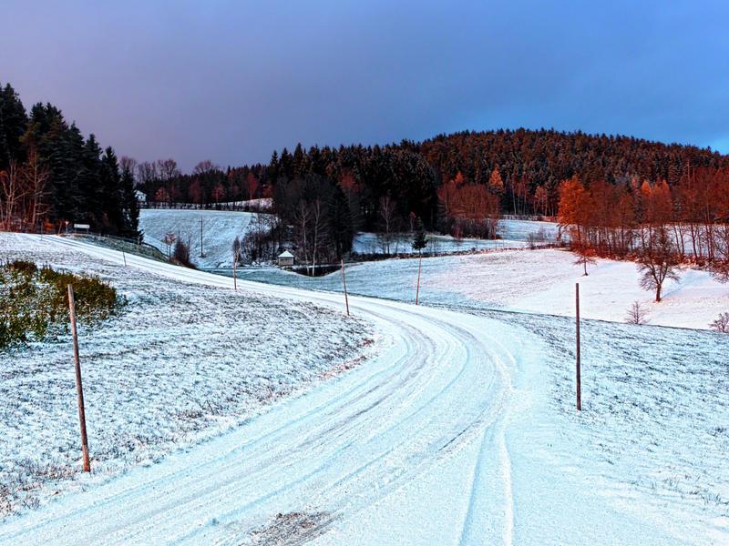 Country road through winter wonderland II by patrickjobst