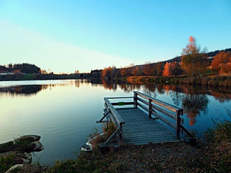 Indian summer sunset at the fishing lake II by patrickjobst