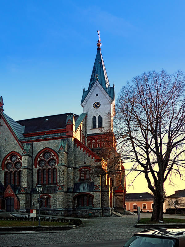 The village church of Aigen III by patrickjobst