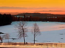 Amazing winter wonderland sundown by patrickjobst