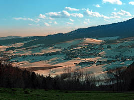 Winter wonderland valley scenery by patrickjobst