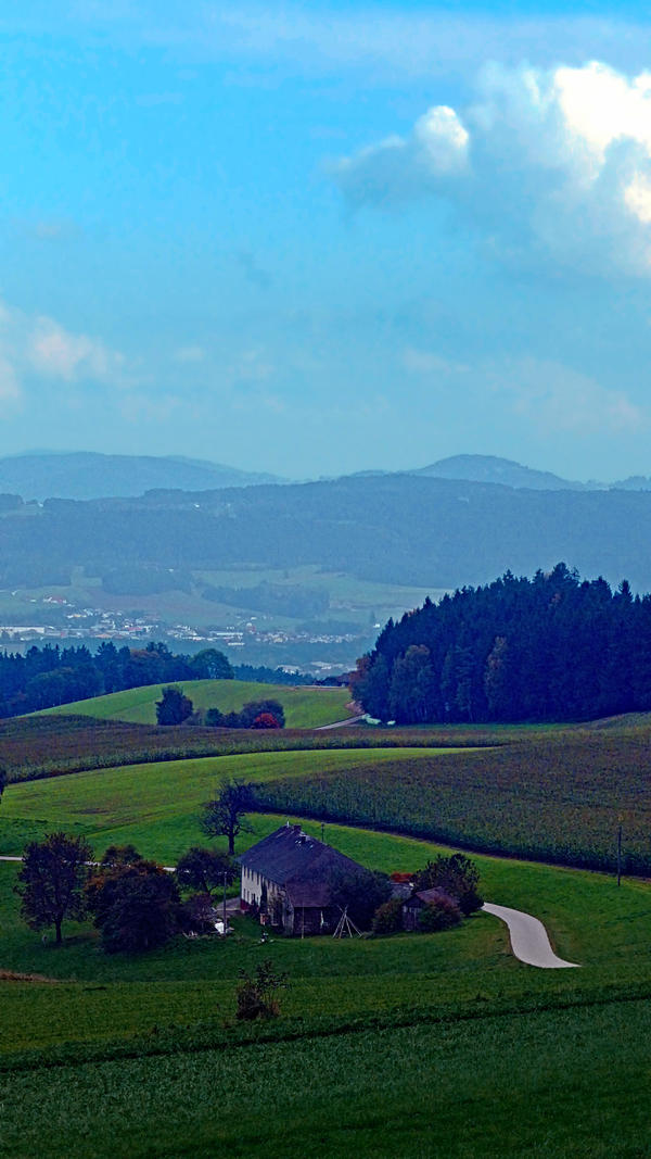 Countryside scenery in autumn by patrickjobst