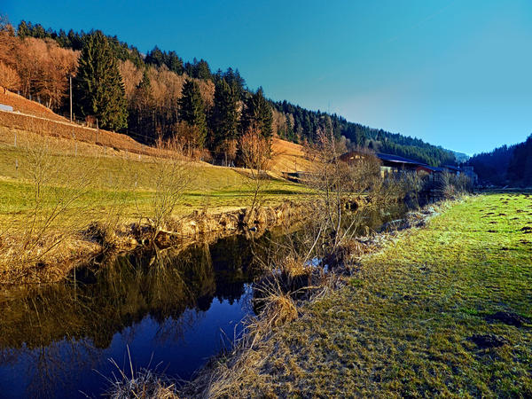 Small river valley by patrickjobst