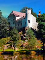 Waldenfels castle, upon the pond by patrickjobst