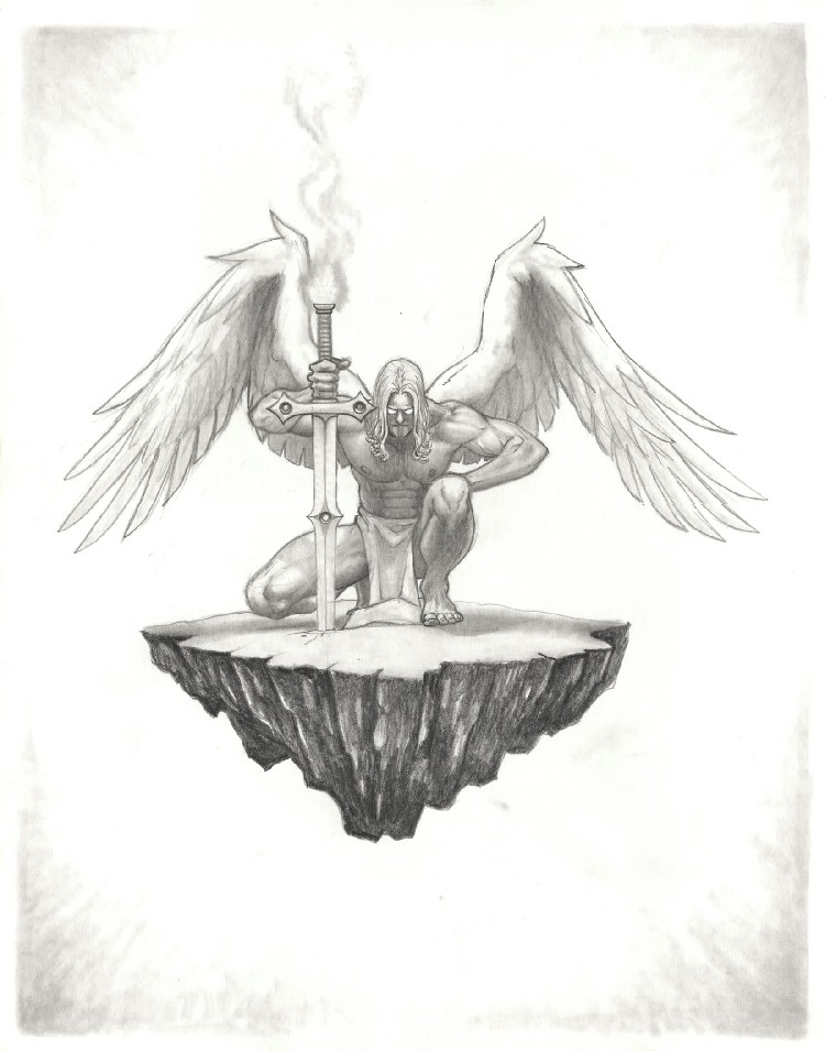 It's just a photo of Witty St Michael The Archangel Drawing