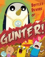 Adventure Time: Bottles Beware of Gunter! by awr8305