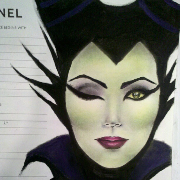 Maleficent Face Chart by CSartworks on DeviantArt
